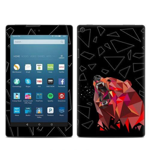 Bears Hate Math Amazon Fire HD 8 2018 Skin