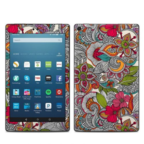 Doodles Color Amazon Fire HD 8 2018 Skin