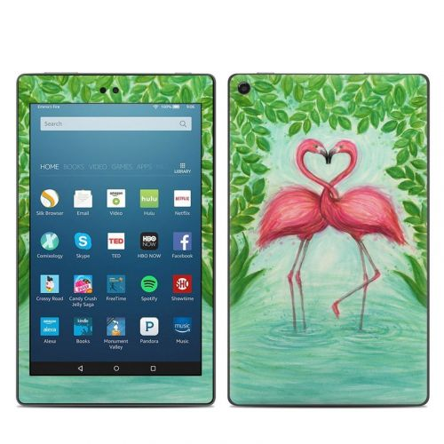 Flamingo Love Amazon Fire HD 8 2018 Skin