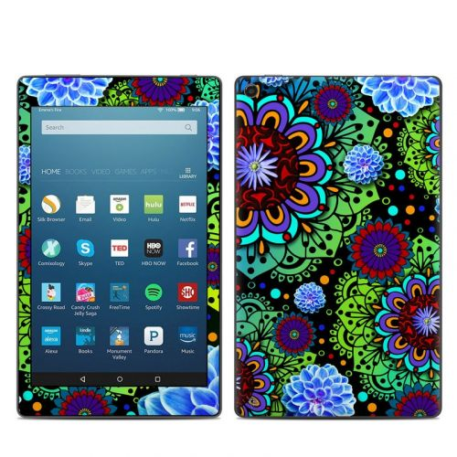 Funky Floratopia Amazon Fire HD 8 2018 Skin