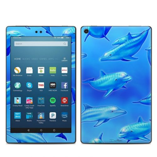 Swimming Dolphins Amazon Fire HD 8 2018 Skin