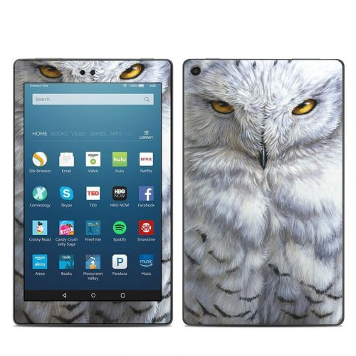 Snowy Owl Amazon Fire HD 8 2018 Skin