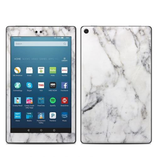 White Marble Amazon Fire HD 8 2018 Skin