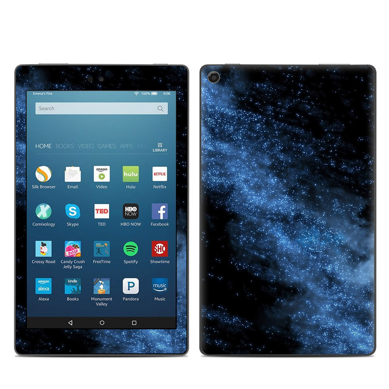 Amazon Fire HD 8 2018 Skin design of Sky, Atmosphere, Black, Blue, Outer space, Atmospheric phenomenon, Astronomical object, Darkness, Universe, Space with black, blue colors