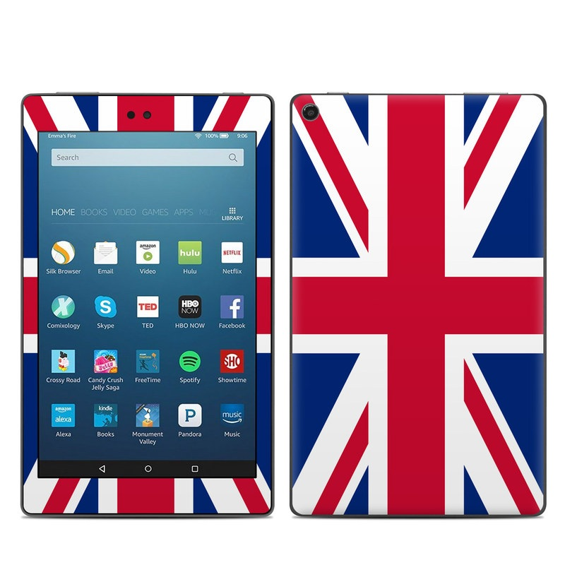Amazon Fire HD 8 2018 Skin design of Flag, Red, Line, Electric blue, Design, Font, Pattern, Parallel, Flag Day (USA) with red, white, blue colors