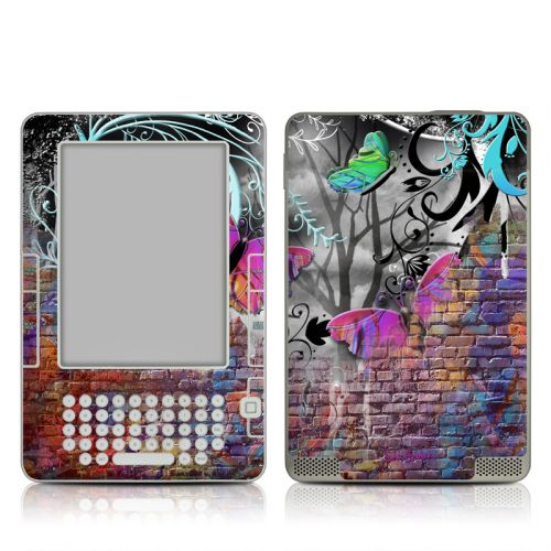 Butterfly Wall Amazon Kindle 2 Skin