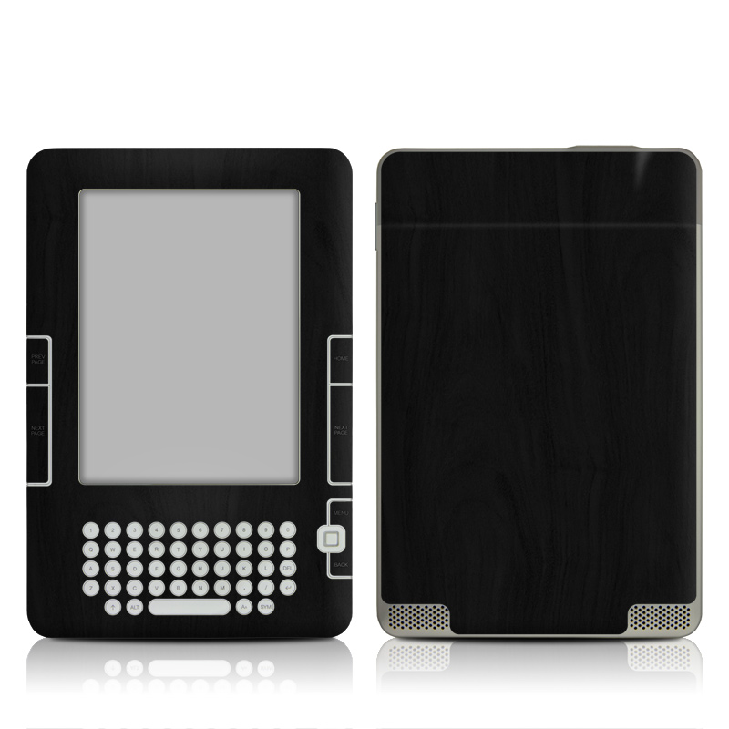 Black Woodgrain Amazon Kindle 2 Skin