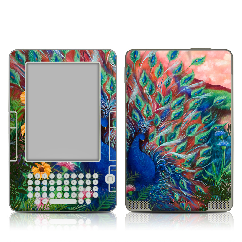 Coral Peacock Amazon Kindle 2 Skin