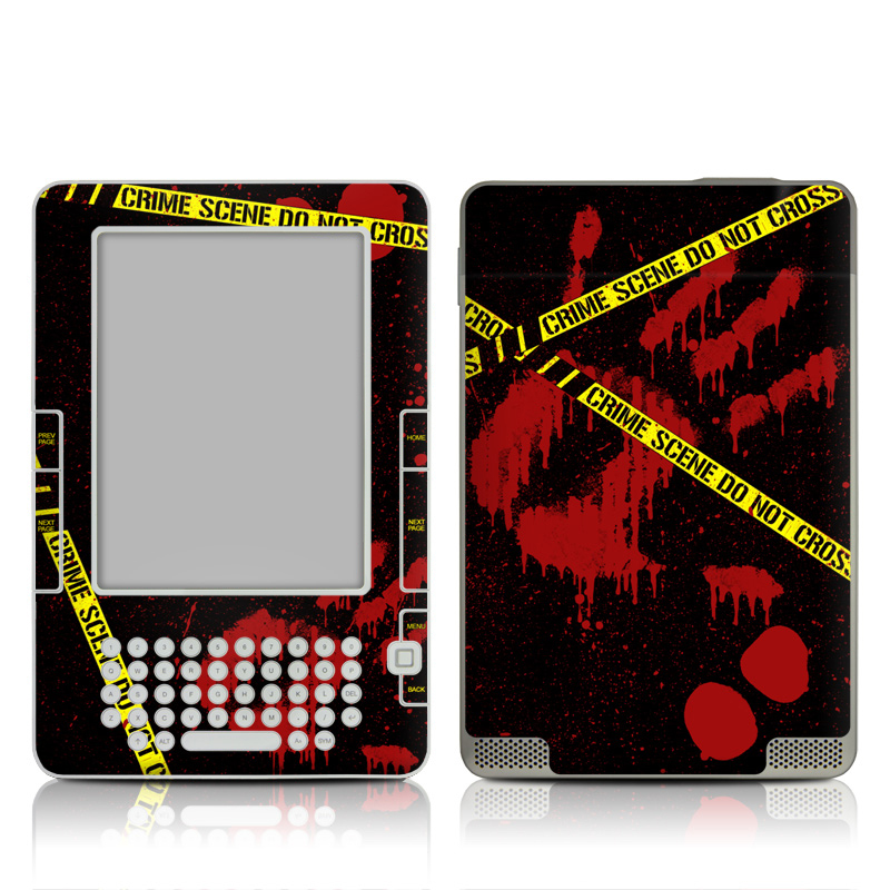 Amazon Kindle 2nd Gen Skin design of Red, Black, Font, Text, Logo, Graphics, Graphic design, Room, Carmine, Fictional character with black, red, green colors