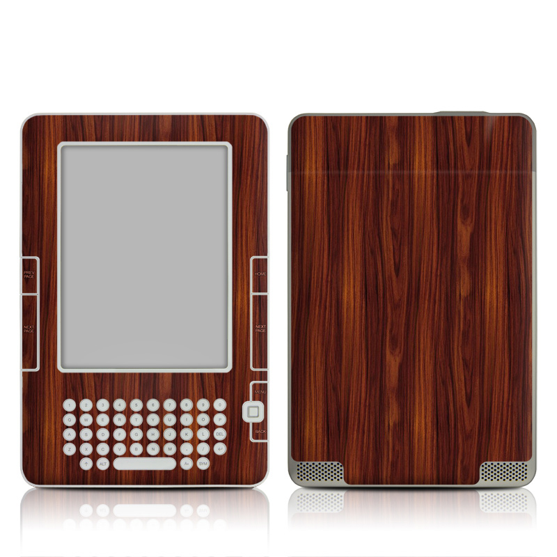 Dark Rosewood Amazon Kindle 2 Skin