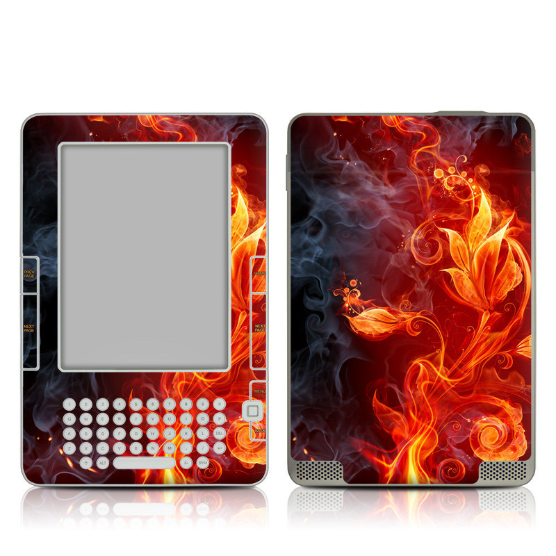 Flower Of Fire Amazon Kindle 2 Skin