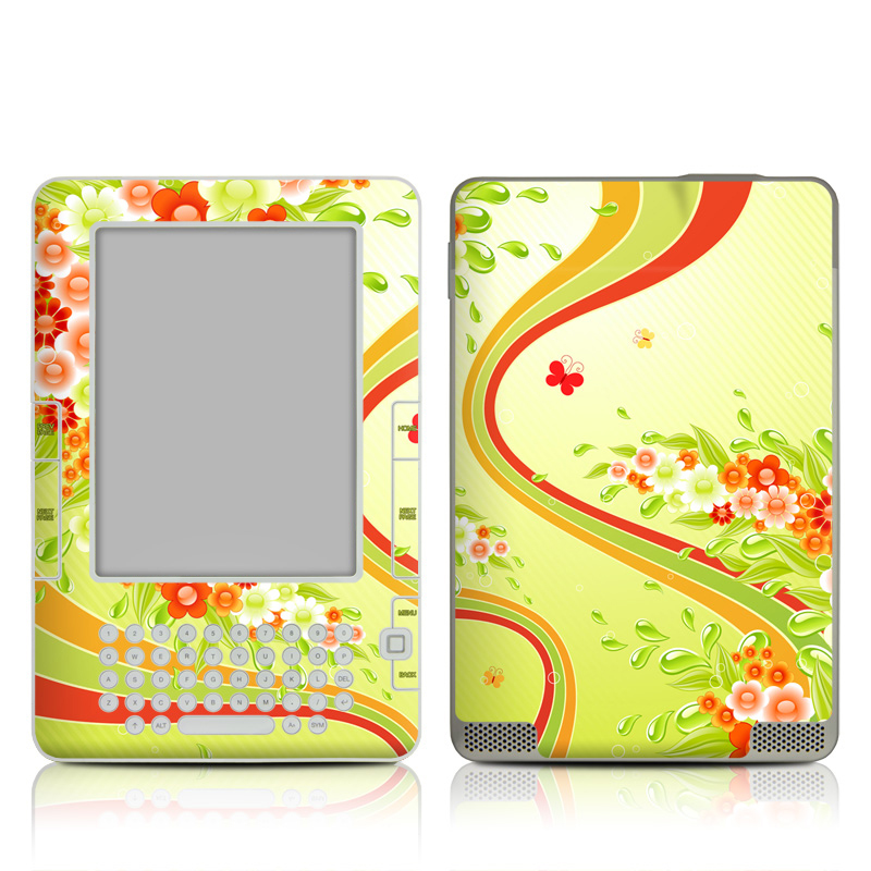 Flower Splash Amazon Kindle 2 Skin