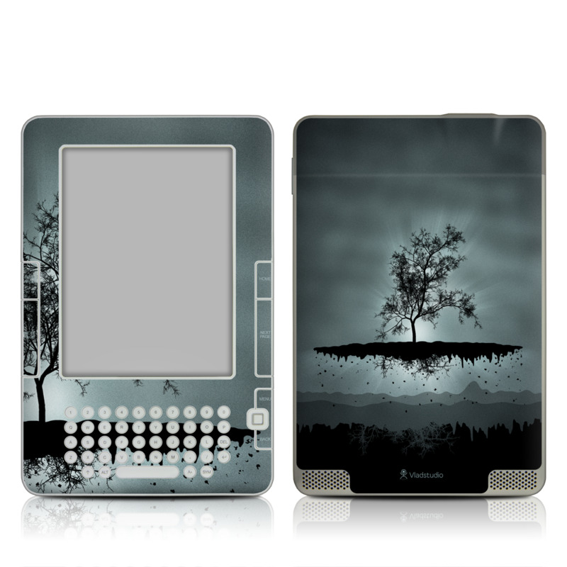 Flying Tree Black Amazon Kindle 2 Skin
