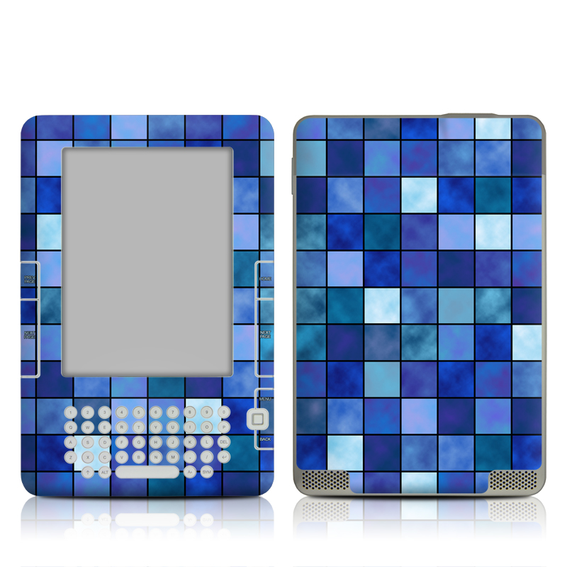 Blue Mosaic Amazon Kindle 2 Skin