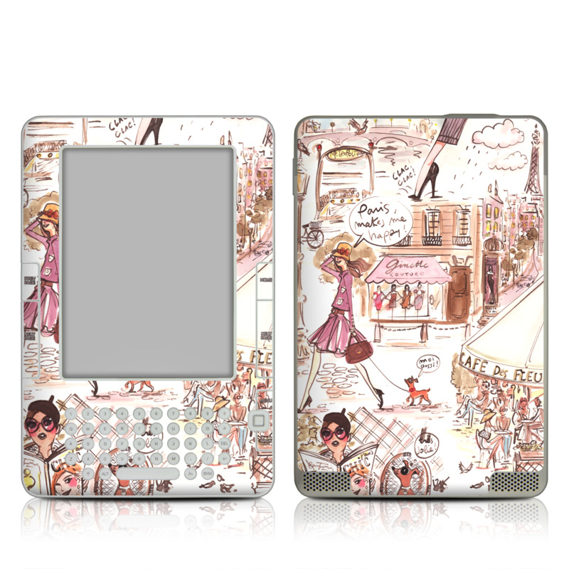 Paris Makes Me Happy Amazon Kindle 2 Skin
