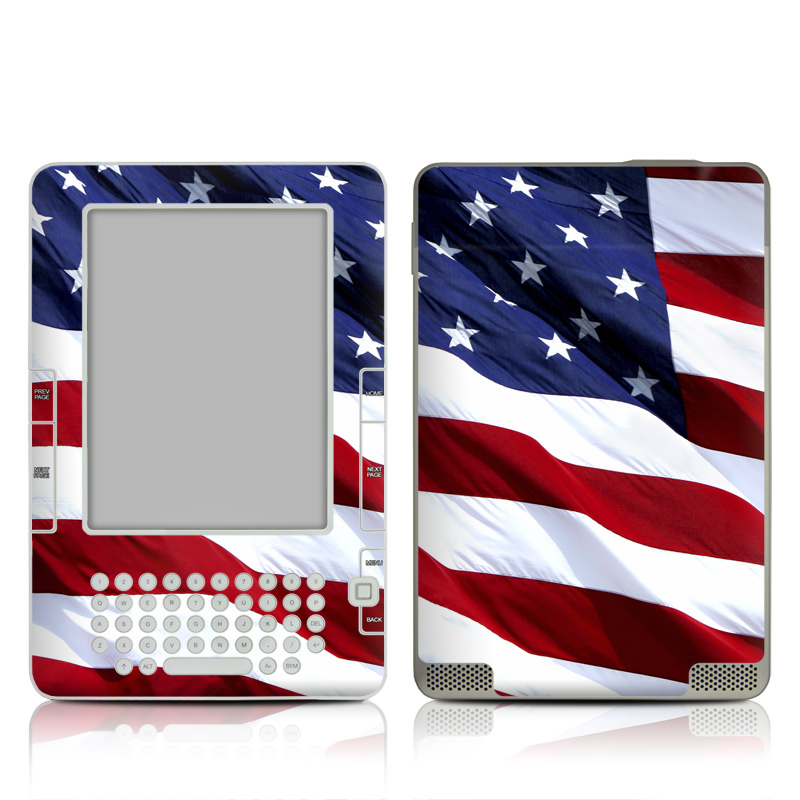 Patriotic Amazon Kindle 2 Skin