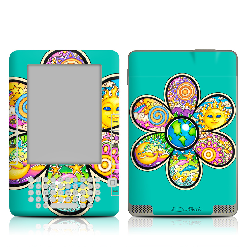 Peace Flower Amazon Kindle 2 Skin
