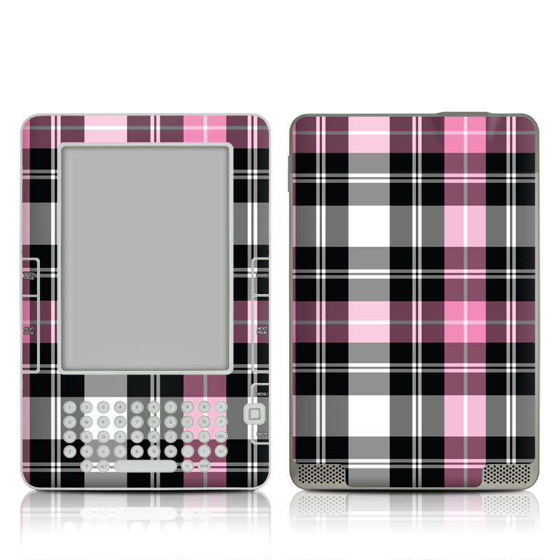 Pink Plaid Amazon Kindle 2 Skin