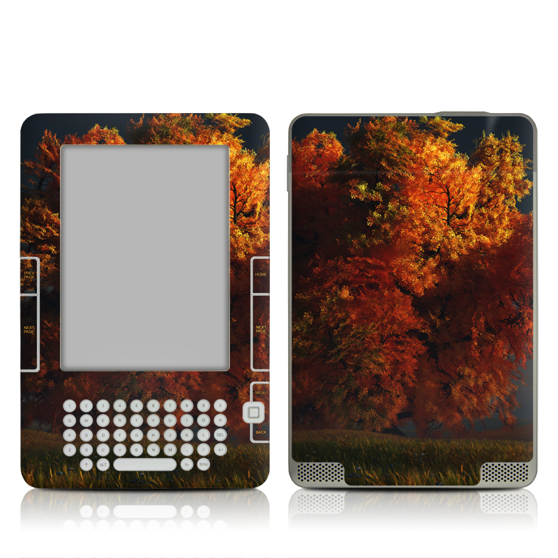 Red and Gold Amazon Kindle 2 Skin