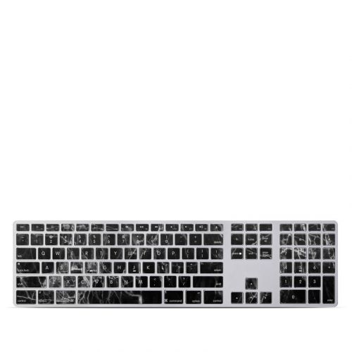 Black Marble Apple Keyboard with Numeric Keypad Skin