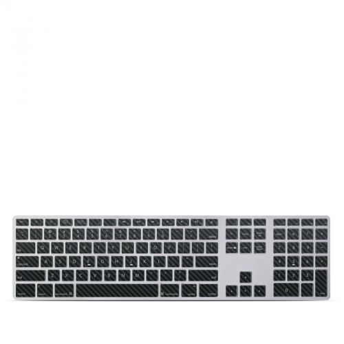 Carbon Fiber Apple Keyboard with Numeric Keypad Skin
