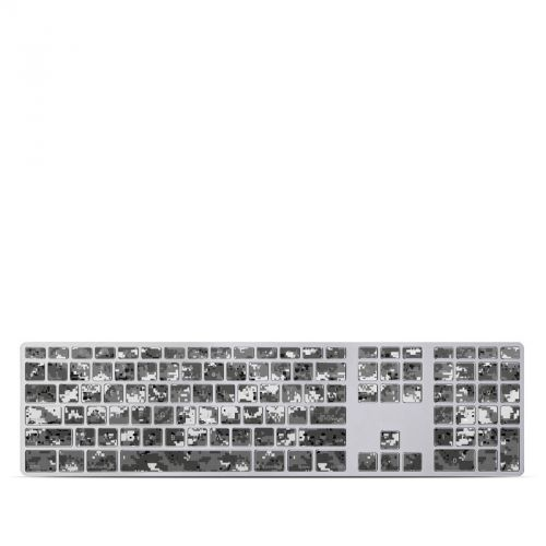Digital Urban Camo Apple Keyboard with Numeric Keypad Skin