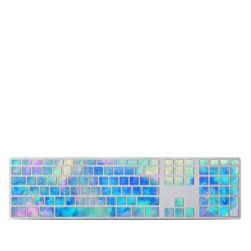 Electrify Ice Blue Apple Keyboard with Numeric Keypad Skin