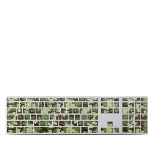 Woodland Camo Apple Keyboard with Numeric Keypad Skin