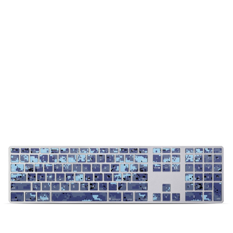 Digital Sky Camo Apple Keyboard with Numeric Keypad Skin