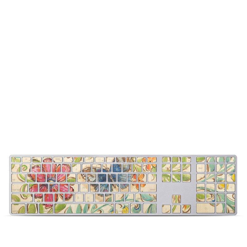 Garden Scroll Apple Keyboard with Numeric Keypad Skin