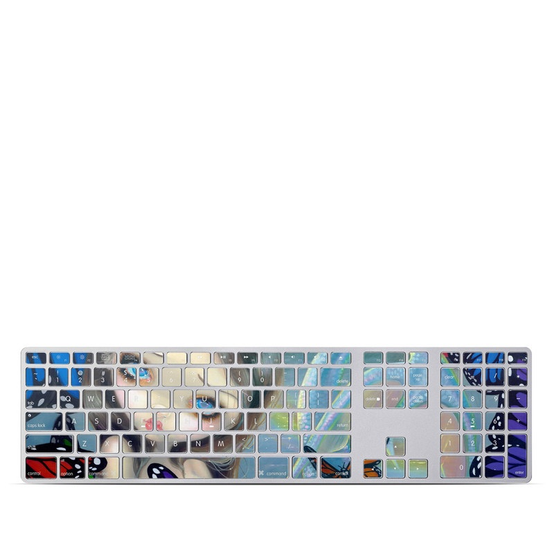 Mermaid Apple Keyboard with Numeric Keypad Skin
