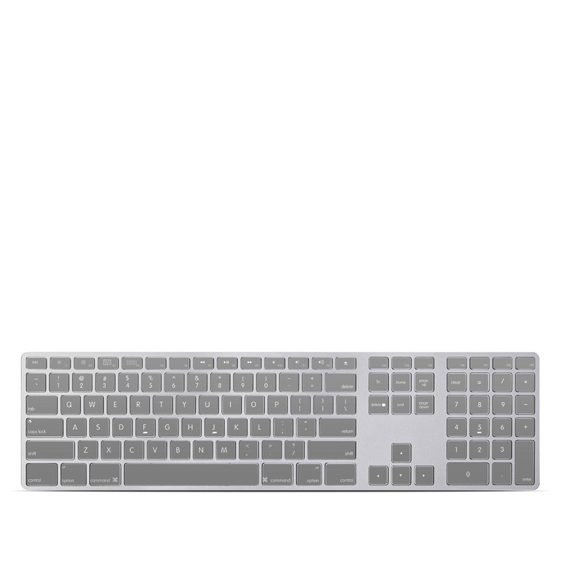 Solid State Grey Apple Keyboard with Numeric Keypad Skin