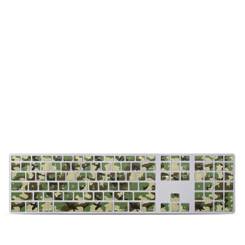 Woodland Camo Apple Keyboard with Numeric Keypad Skin