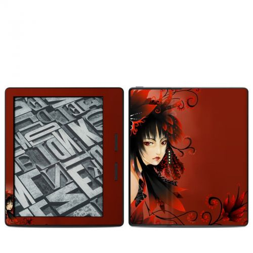 Black Flower Amazon Kindle Oasis Skin