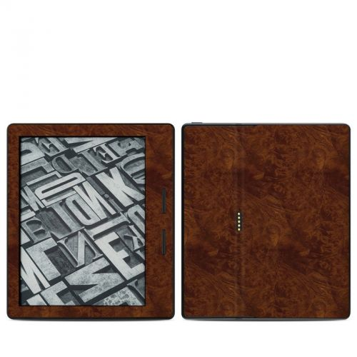 Dark Burlwood Amazon Kindle Oasis Skin
