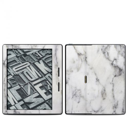 White Marble Amazon Kindle Oasis Skin