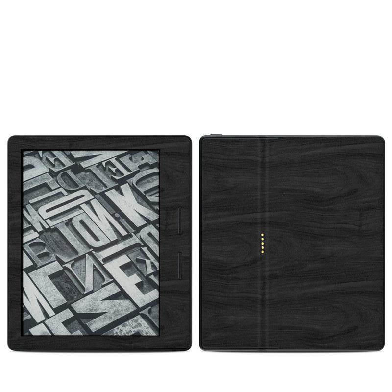 Amazon Kindle Oasis 1st Gen Skin design of Black, Brown, Wood, Grey, Flooring, Floor, Laminate flooring, Wood flooring with black colors