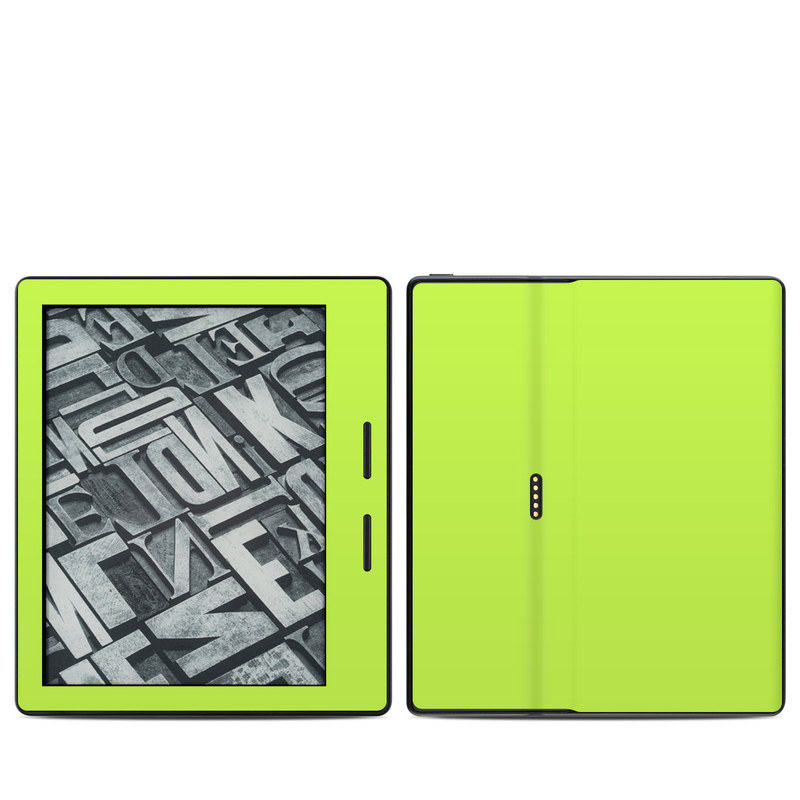 Solid State Lime Amazon Kindle Oasis Skin