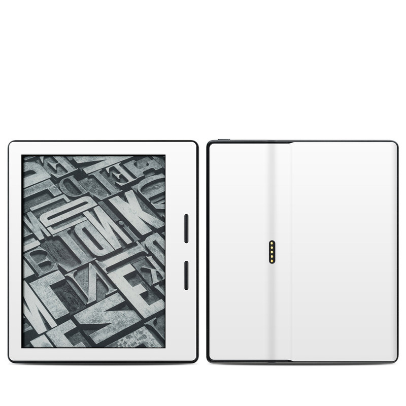 Solid State White Amazon Kindle Oasis Skin