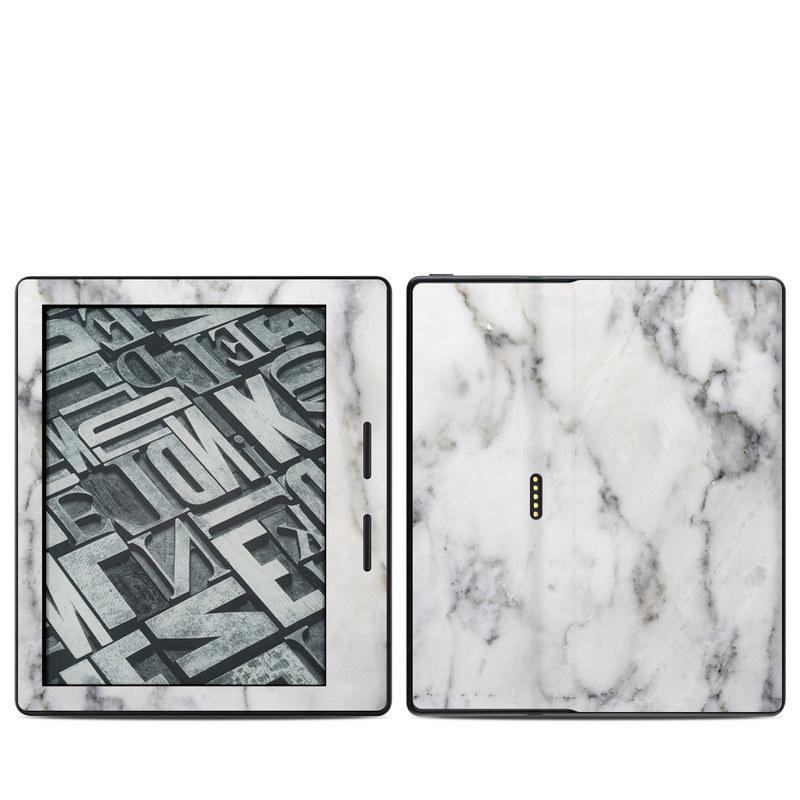 White Marble Amazon Kindle Oasis Skin
