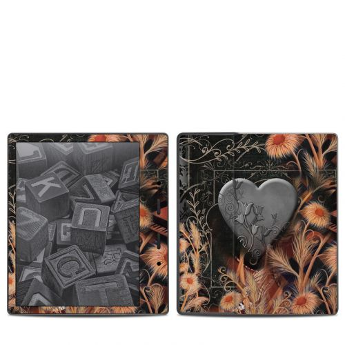 Black Lace Flower Amazon Kindle Oasis 2 Skin