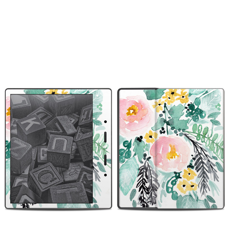 Blushed Flowers Amazon Kindle Oasis 2 Skin