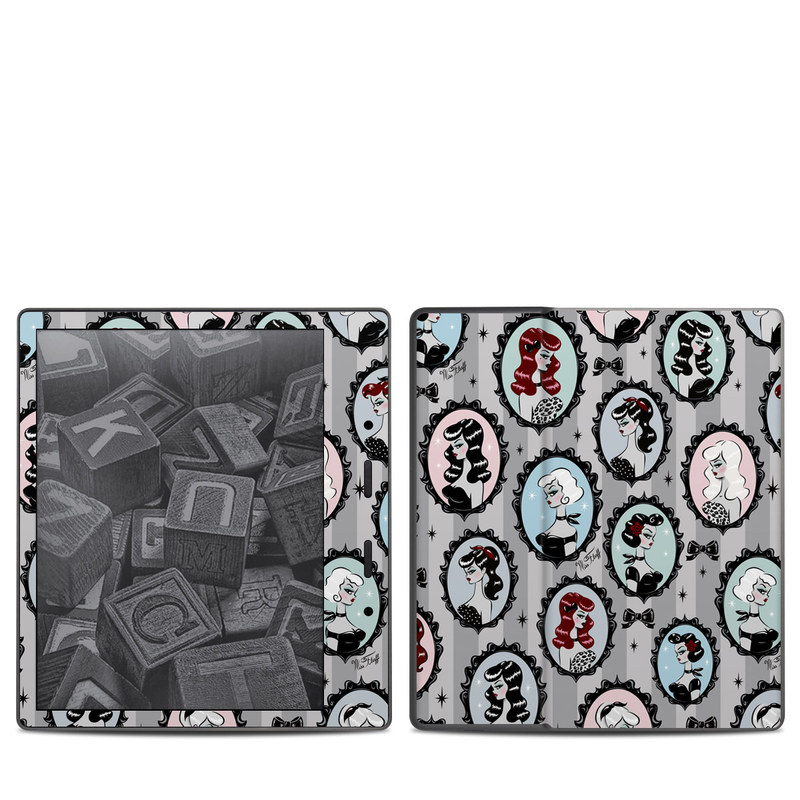 Amazon Kindle Oasis 2nd Gen Skin design of Pattern, Design, Textile, Visual arts, Circle, Art with black, blue, gray, yellow, red, pink colors