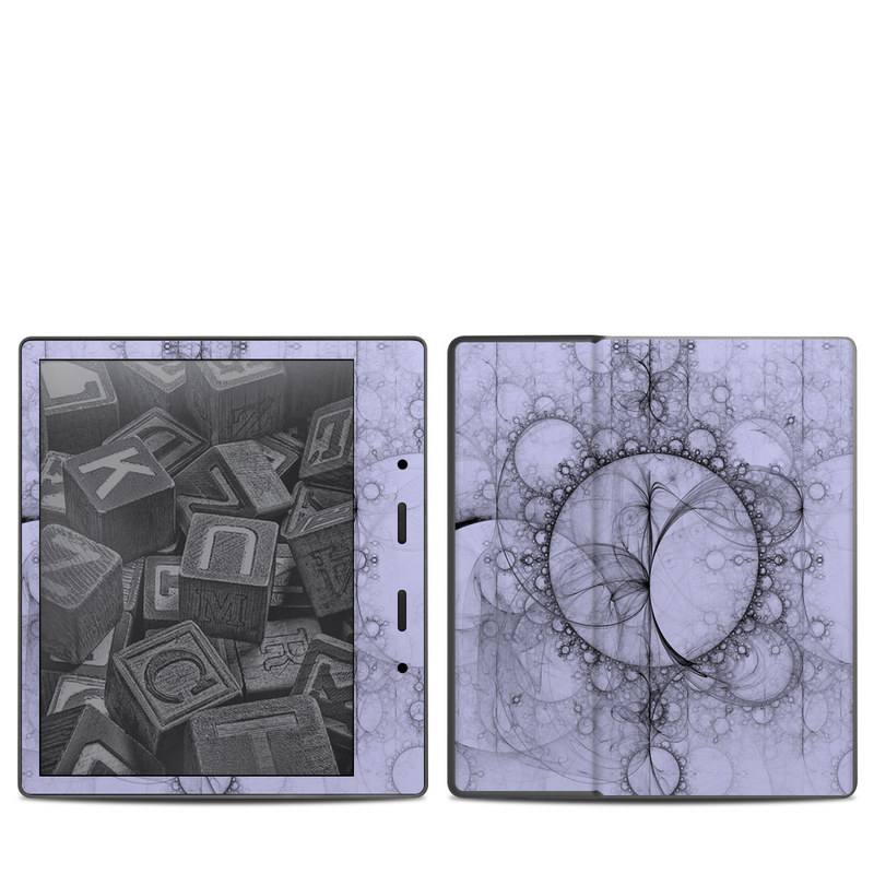 Amazon Kindle Oasis 2nd Gen Skin design of Circle, Drawing, Pattern, Design, Illustration, Sketch, Graphics, Visual arts, Art, Artwork with gray, black, blue colors
