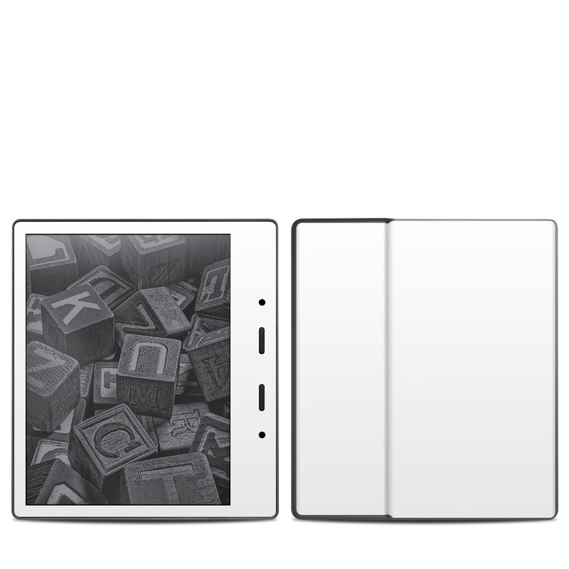 Amazon Kindle Oasis 2nd Gen Skin design of White, Black, Line with white colors