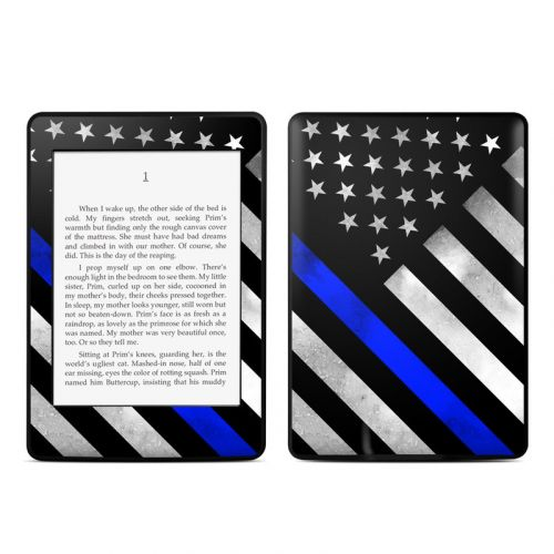 Thin Blue Line Hero Amazon Kindle Paperwhite 3rd Gen Skin