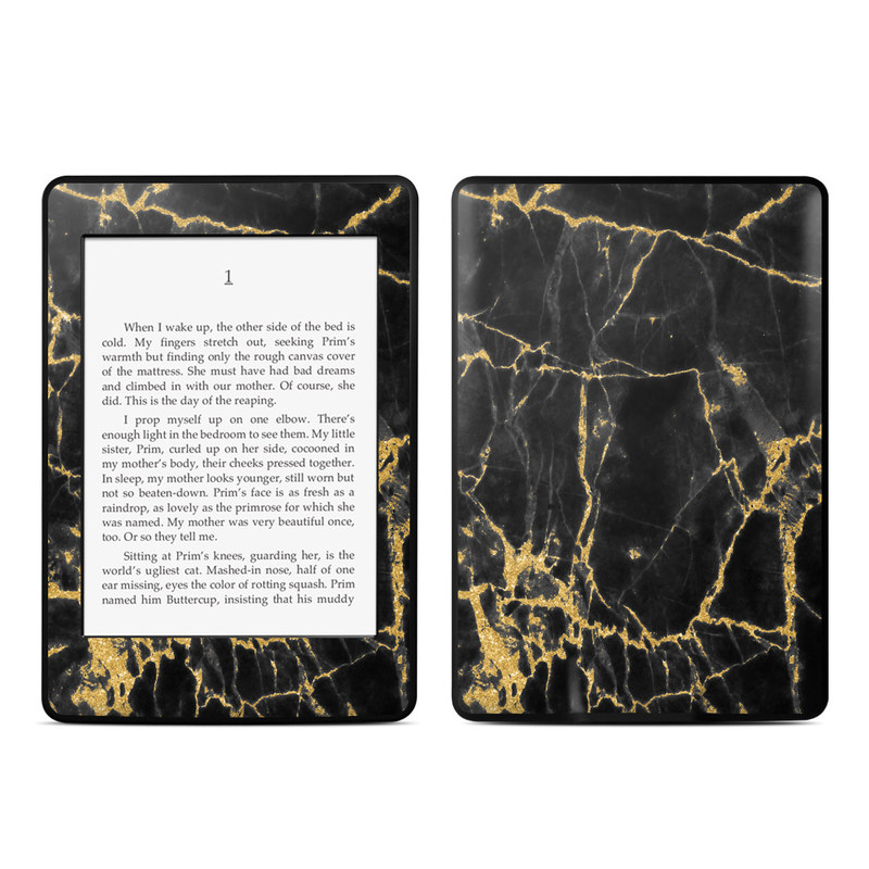 Black Gold Marble Amazon Kindle Paperwhite Skin