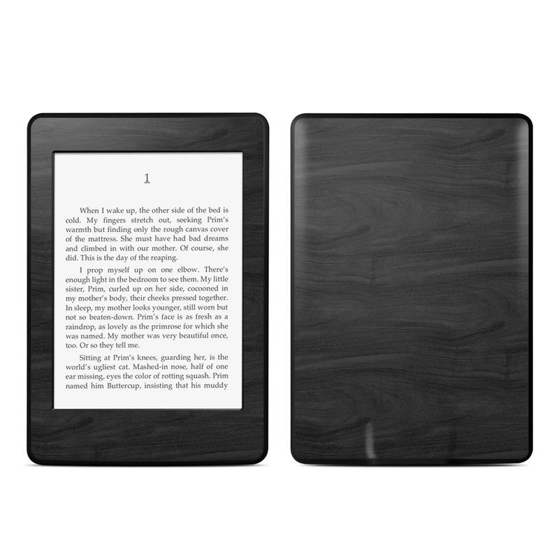 Black Woodgrain Amazon Kindle Paperwhite Skin
