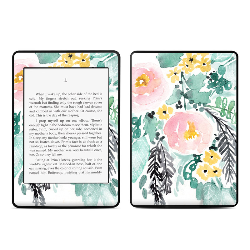 Blushed Flowers Amazon Kindle Paperwhite 3rd Gen Skin