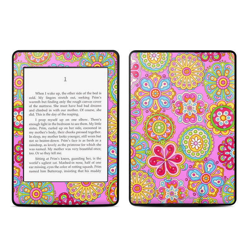 Bright Flowers Amazon Kindle Paperwhite Skin